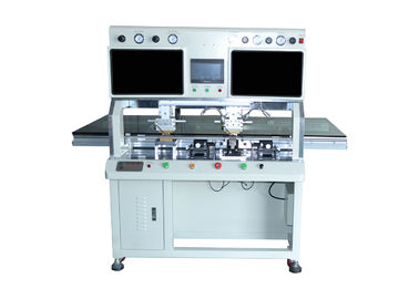 Double Head Acf Bonding Equipment , Cof Ic Bonding Machine For LCD Screen